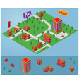isometric small map vector image vector image