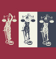 lady justice themis 3 vector image vector image
