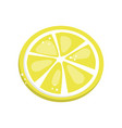 lemon slice cartoon vector image