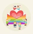 lgbtq people community vector image