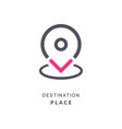 map pin destination icon gps place sign flat vector image vector image