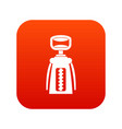 modern corkscrew icon digital red vector image vector image