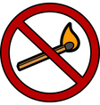 no fire icon vector image vector image