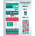 One page website flat UI design template vector image vector image