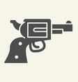 pistol solid icon revolver vector image vector image