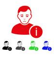 sad user info icon vector image vector image