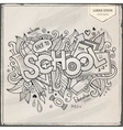 School hand lettering and doodles elements vector image vector image