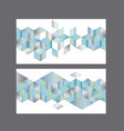 set of cards or header template vector image