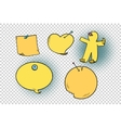 set of yellow stickers in different shapes vector image
