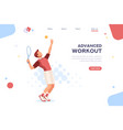 set sportsman playing tennis vector image