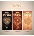 set vintage decorative coffee labels vector image vector image