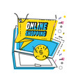 shopping online commercial tag vector image