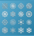 snowflake icons set vector image