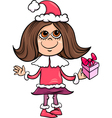 snowflake or santa girl cartoon vector image vector image
