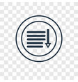 sort down concept linear icon isolated on vector image