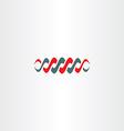spiral dnk symbol icon vector image