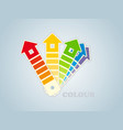symbol of a paint for the house vector image vector image