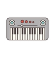 synthesizer electric isolated icon vector image vector image