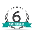 template logo 6 years anniversary