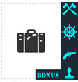 travel bag icon flat vector image