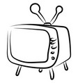 tv drawing on white background vector image