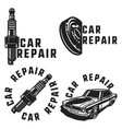 vintage car repair emblems vector image vector image