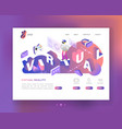 virtual reality isometric concept augmented vector image