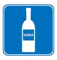 Vodka sign is allowed to drink vector image
