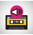volume music cassette tape vector image vector image