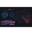 Web or game user interface futuristic elements vector image vector image