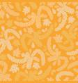 yellow succulent garden seamless pattern vector image