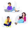 young people in bold modern vector image vector image