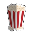Isolated popcorn snack vector image