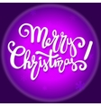 Merry Christmas lettering design handwriting text vector image