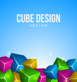 Colorful Cubes Background vector image
