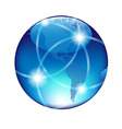 Abstract Blue Globe vector image vector image