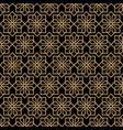 abstract dark seamless flower pattern in oriental vector image vector image