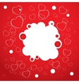 Abstract red background Heart Valentines day vector image vector image