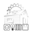 alternative energy for home vector image vector image