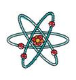 atom doodle vector image vector image