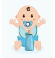 Baby boy cartoon of baby shower concept vector image vector image