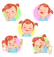 baby teeth set vector image