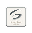 beautiful woman logo vector image vector image