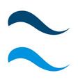 blue swoosh logo template design eps 10 vector image vector image