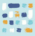 bright collection hand-drawn elements drops vector image vector image