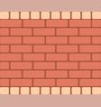 brown brick wall horizontal rectangular vector image