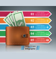 business infographics dollar wallet icon vector image vector image