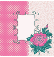 Card with pink rose flowe vector image