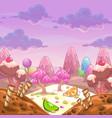 Cartoon sweet landscape vector image