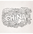 China hand lettering and doodles elements vector image vector image
